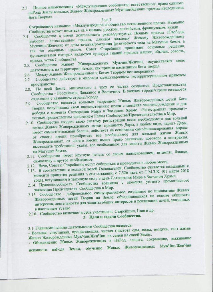3 страница устава
